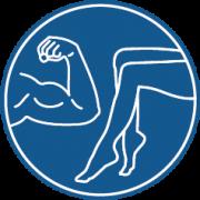 Mehr Muskeln an den Oberarmen und Beinen