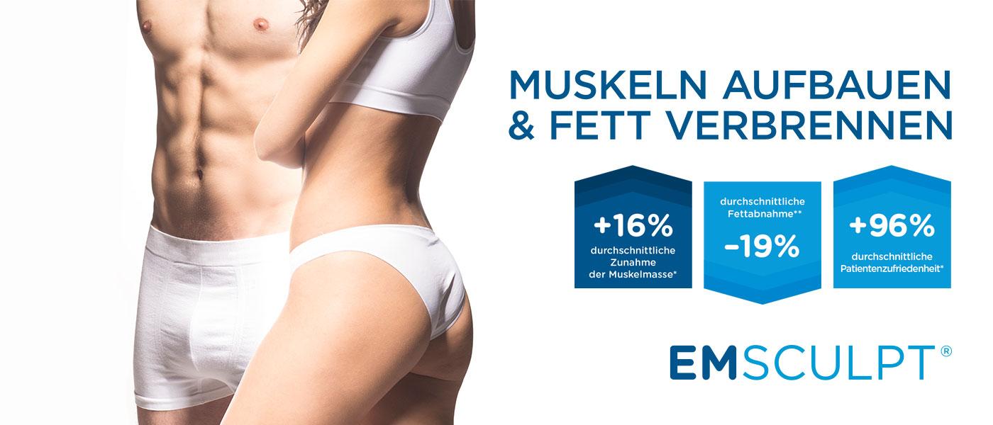 Muskeln aufbauen und Fett verbrennen mit EmSculpt® in der Klinik Dr. Katrin Müller in Hannover
