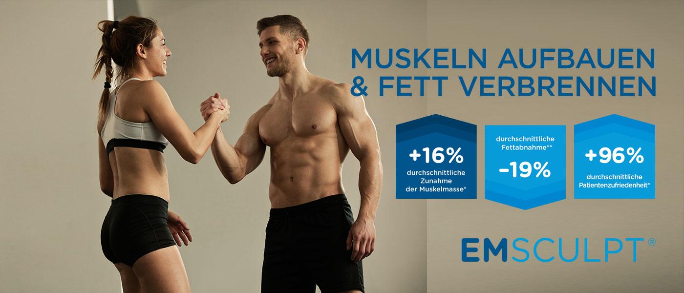 Muskeln aufbauen und Fett verbrennen mit EmSculpt® in der Klinik Dr. Katrin Müller in Hannover – für Frauen und Männer
